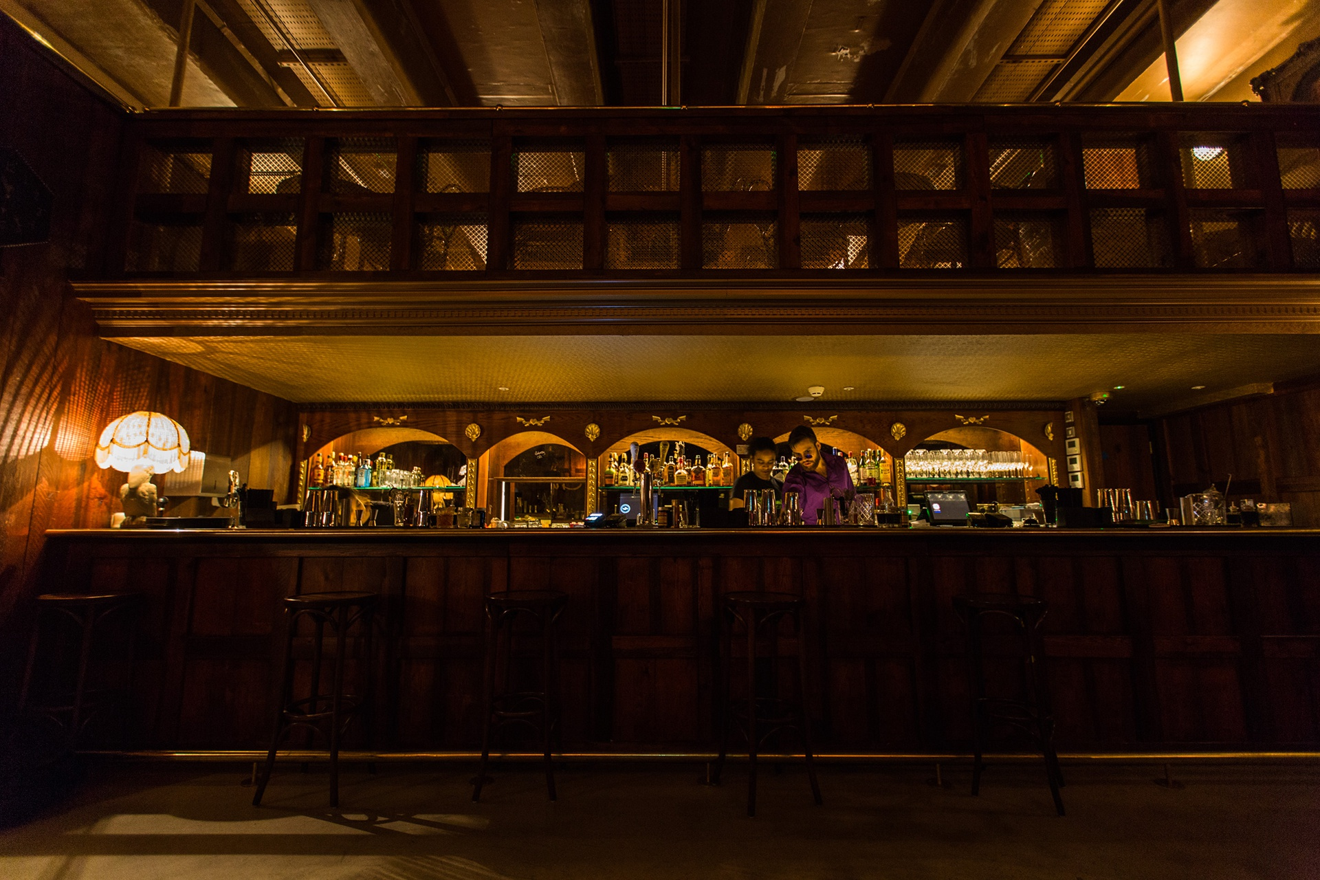 Inside Doctor Klugers Old Towne Tavern in Canary Wharf